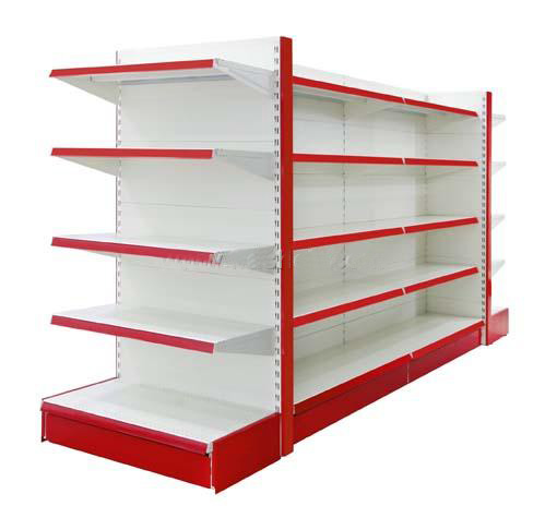 Customized Size Modern Style supermarket Corner shelf Featured Image