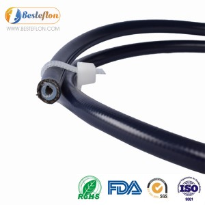 clear covered ptfe hose AN8 for brake system | BESTEFLON