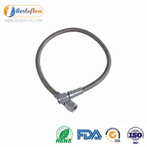 Newly Arrival Stainless Steel Braided Ptfe Lined Pvc Coated Hose - PTFE hose assembly 5/16 for oil industry | BESTEFLON – Besteflon
