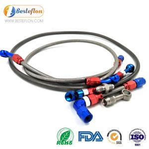1/8 ptfe brake hose with pvc covering | BSETEFLON
