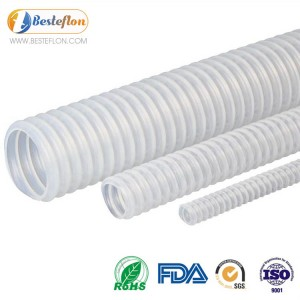 PTFE Convoluted Tube Flexible High Quality For Steam Transfer | BESTEFLON