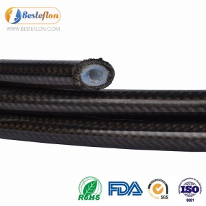 Good quality China Black and White PTFE Inner Tube Stainless Wire Cover R14 Hose