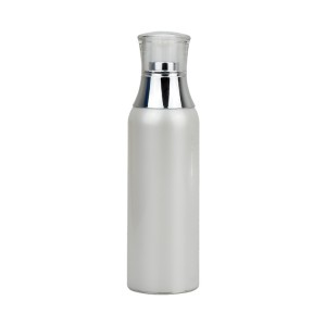 white PP 100ml airless cosmetic pump bottle