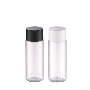 clear plastic bottle with screw cap