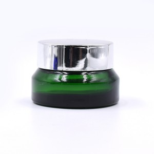 luxury original green color cosmetic usage 15ml glass jar