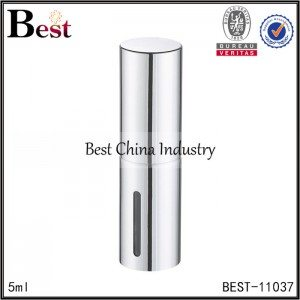 round shaped silver aluminum perfume atomizer 5,l