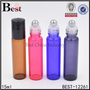 amber pink blue purple colored roller bottle 15ml