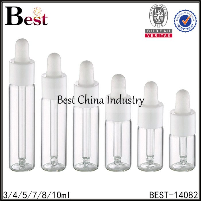 13 415 dropper cap clear tube glass bottle 3/4/5/7/8/10ml