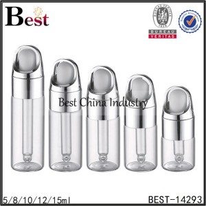 round tube bottle with silver basket dropper 5/8/10/12/15ml
