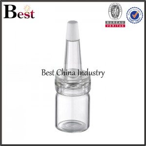 clear tube bottle with conic cap 5/7/10/15/20/25/30ml