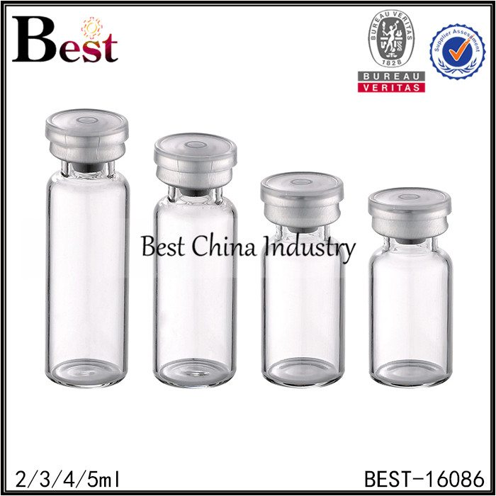 clear color tube hyaluronic acid bottle 2ml 3ml 4ml 5ml