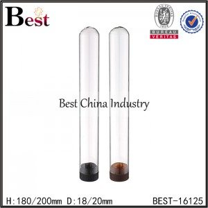 clear round bottom test tube with cap