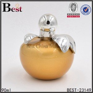 apple shaped gold perfume bottle 90ml