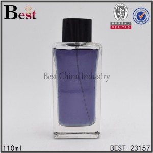 square perfume glass bottle 110ml