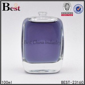 flat shaped perfume bottle 100ml