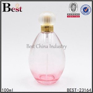 clear oval shaped glass prfume bottle 100ml
