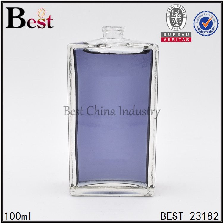 clear square perfume bottle 100ml