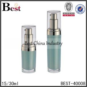 blue color acrylic bottle with pump 15/30ml