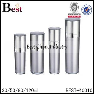 silver acrylic pump bottle 30/50/80/120ml
