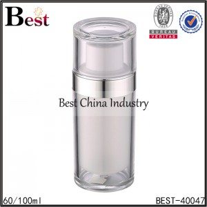 white color acrylic bottle cap 60/100ml