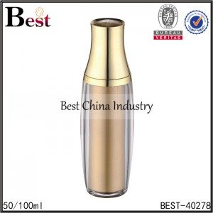 double wall, inner gold acrylic bottle 50/100ml