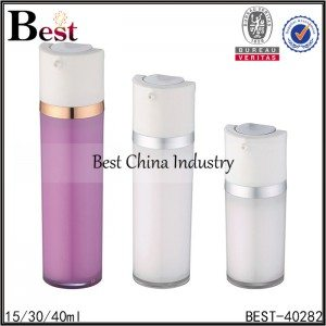 red, white acrylic lotion bottle 15/30/40ml
