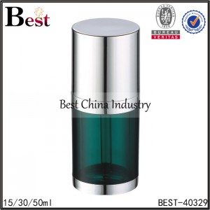 green body, shiny silver aluminum shoulder, bottom dropper bottle 15/30/50ml