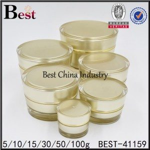 gold acrylic cream jar 5/10/15/30/50/100g