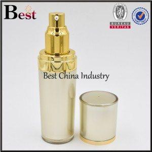 top wide, bottom slim gold acrylic lotion bottle 30ml