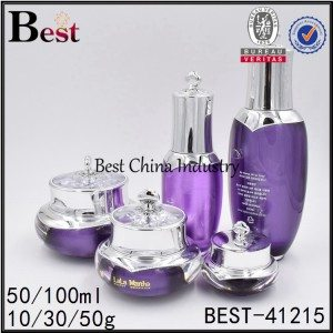 purple color acrylic bottle 50/100ml, acrylic jar 10/30/50g