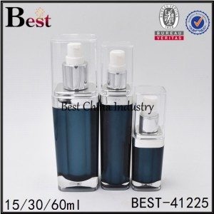 green/blue acrylic lotion bottle 15/30/60ml