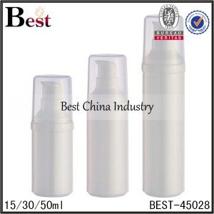 white PP airless foam/lotion bottle 15/30/50ml