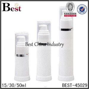 white foam/lotion airless bottle 15/30/50ml