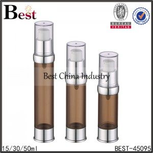 brown airless pump bottle 15/30/50ml
