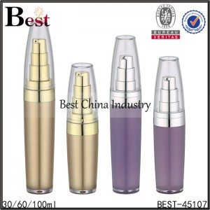 gold/purple color acrylic bottle with clear cover 30/60/100ml