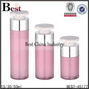 pink color lotion acrylic bottle 15/30/50ml