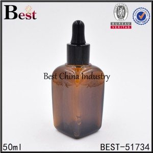 empty cosmetic glass dropper bottle for essential oil serum 25ml 50ml