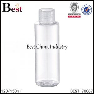 clear PET bottle with screw cap 120/150ml