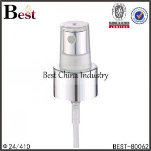 silver aluminum screw sprayer with plastic cap 24/410