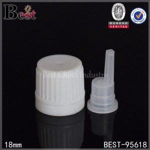 white plastic essential oil cap with orifice reducer 18/410