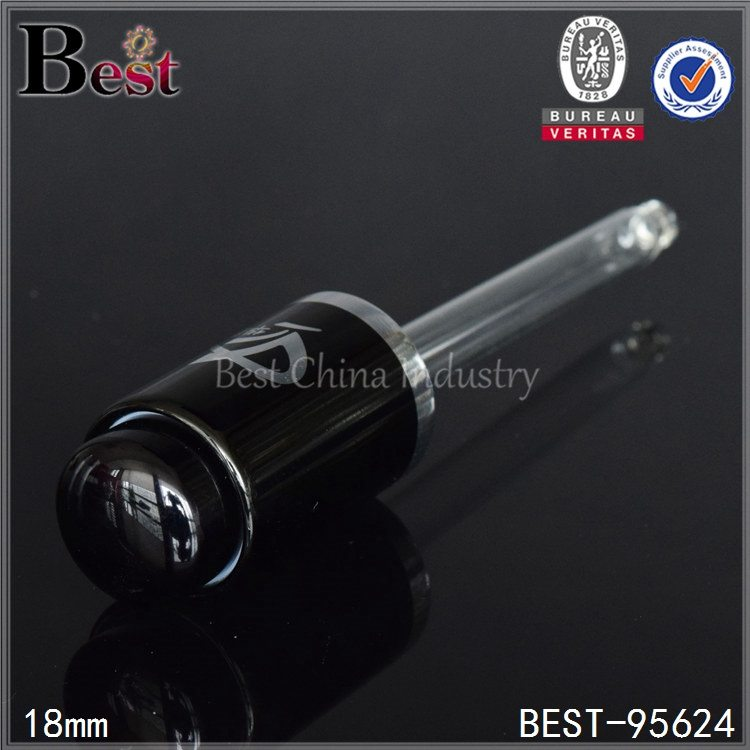 silver/black aluminum press dropper cap for essential oil 18mm