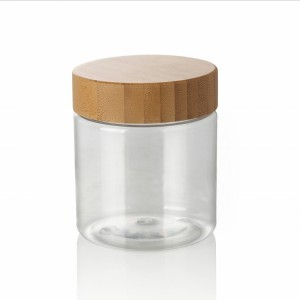 500ml plastic jar bamboo lid