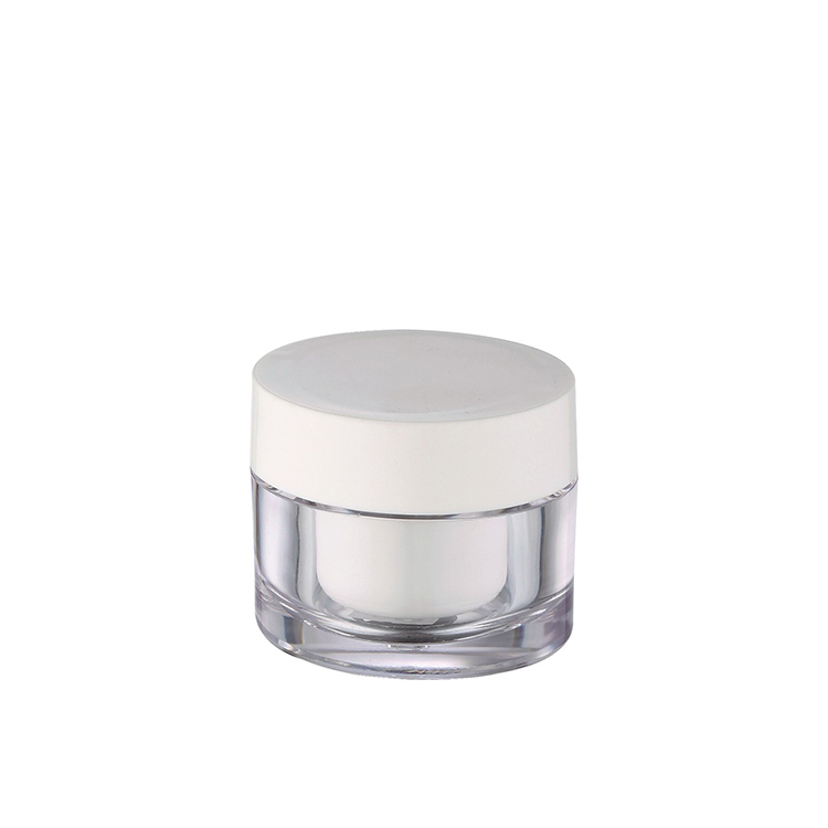 clear double wall acrylic cosmetic container