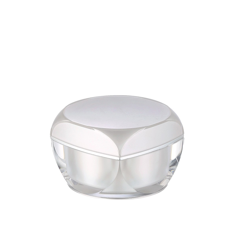 pearl white acrylic cosmetic cream jar