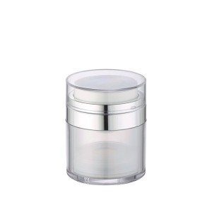 colored airless cosmetic pump jar