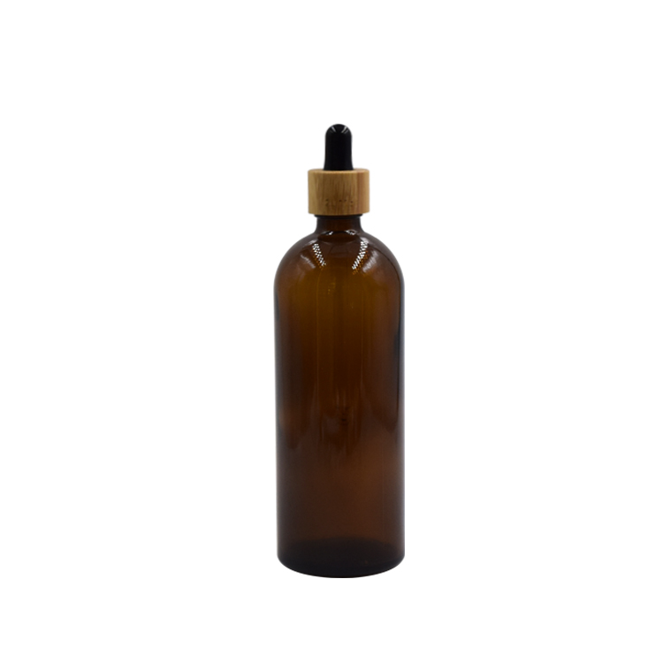 100ml amber cosmetic bottle with dropper