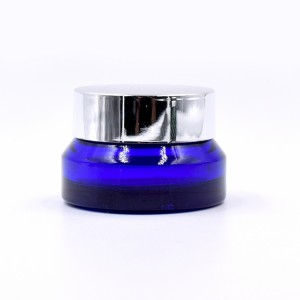 luxury 15g 30g 50g 100g cosmetic cobalt blue glass jars for cream