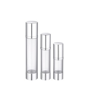 clear AS plastic airless cosmetic serum bottle