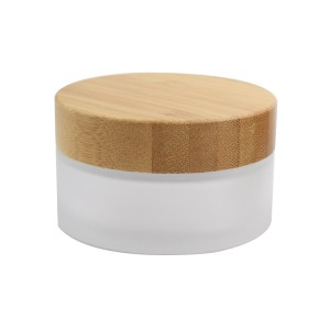 30g 50g cosmetic cream jar with bamboo lid