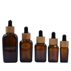 glass essential oil bottle bamboo dropper 10ml 15ml 30ml 50ml 100ml